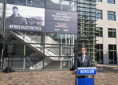 Jeffrey Herbst, President and CEO of the Newseum, remarked on the Newseum's commitment to Tice's safe return.