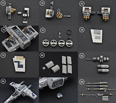 T-65 X-wing: V2 (instructions  Page 7) (Inthert) Tags: lego t65 fighter sfoils x wing starfighter moc ship star wars rebel rogue one squadron income red5 r2d2 luke skywalker instructions breakdown astromech blue
