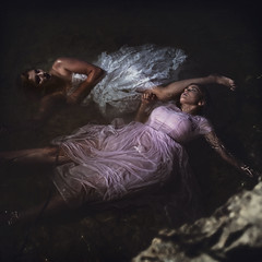 'Castaways' (Natasha Root Photography) Tags: natasharootphotography inspire imagine create painterly conceptual likeapainting square girls women beauty water fineart float dream drown forgotten ocean dark dress art
