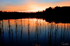 Crépuscule (www.sophiethibault.ca) Tags: chalet hdr crépuscule lac 2016 eau coucherdesoleil juin