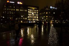 Oslo in November (Mona_Oslo) Tags: streetshot nightshot wetpavement light dusk spikersuppa karljohansgate monajohansson color reflextions oslo oslocentrum