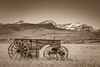 HANGING ON TO YESTERDAY (Sandy Hill :-)) Tags: yesteryear antiquewagons farm farmlands farmscenery countryscenery countrylandscapes cowboys antique rockymountains sepia countryside old sandystewartphotos