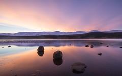 Wake Up. (Steve J. Knight) Tags: morning vista photography glenmore orange purple landscape sony longexposure lake mountains winter dawn sunrise lochmorlich highlands scotland colourful cairngorms light colour