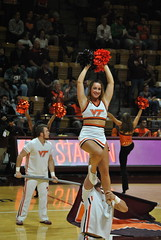 CHEERING FOR THE HOKES (SneakinDeacon) Tags: acc vt vatech hokies cassellcoliseum cheerleaders bigsouth basketball panthers highpoint