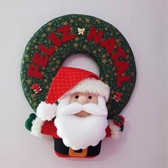 Guirlanda Feliz Natal Papai Noel (mfuxiqueira) Tags: natal natal2016 guirlanda guirlandadenatal enfeitedenatal decoraçãodenatal decoraçãonatalina rena bonecodeneve papainoel azevinhos feliznatal feltro felt christimas xmas