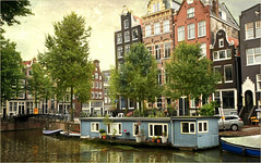 Le long du Herengracht, Amsterdam, Nederland (claude lina) Tags: claudelina nederland netherlands paysbas hollande city town ville gracht canal maisons houses herengracht amsterdam