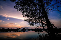 (Monshtadoid) Tags: russia landscape nature autumn silhouette tree evening sunset sky clouds colourfull pond water lake shore
