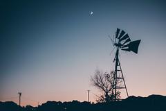 Not enough Energy (mripp) Tags: energy energie silhouette sky himmel blue moon pond landscape landschaft sunset california kalifornien usa amerika america us retro vintage old dream colours colour fuji