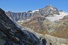 Dent Blanche (4,337 alt. ) Point de Zinal 3,789alt.). and the Glacier of Z'mutt on summer time . No. 1775. (Izakigur) Tags: dentblenche pointdezinal glacier zermatt liberty izakigur flickr feel europe europa dieschweiz d200 ch helvetia lasuisse musictomyeyes nikkor nikon nikond200 suiza suisse suisia suizo swiss svizzera سويسرا laventuresuisse myswitzerland thelittleprince landscape matterhorn cervin cervinp cervino switzerland schwyz lepetitprince suïssa kantonwallis wallis valais cantonduvalais fixyou coldplay