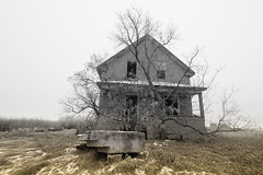 Enter (gerrypocha) Tags: winter desolate lost abandoned forgotten house prairie