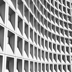 Concrete Abyss (Jake's Gallery) Tags: hud washingtondc dc architecture bw blackandwhite repetition windows lines buildings