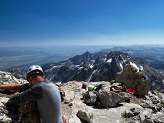 What Lies Beyond (kevstewa) Tags: tetons grandteton wyoming mountains climbing hiking
