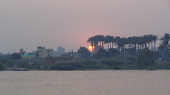 Sunset on the Nile (Rckr88) Tags: sunset nile sunsetonthenile cairo egypt water river rivers nileriver trees tree greenery nature outdoors travel africa sky sun