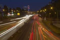 Paris - boulevard périphérique - début de nuit