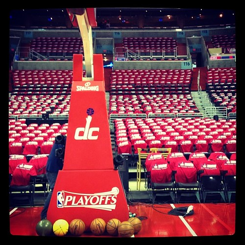 Good News: The DC logo made it to the back of the basket. Nice work, #Wizards. #DCrising