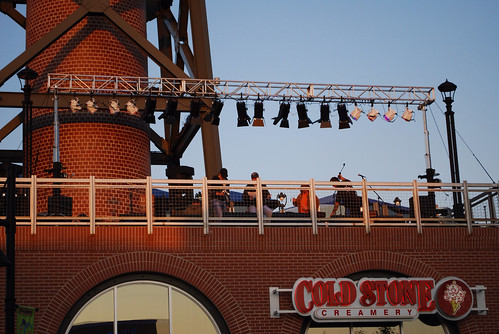 Big and Rich acoustic set at Village West.  All installed on the roof.  Crowd below.