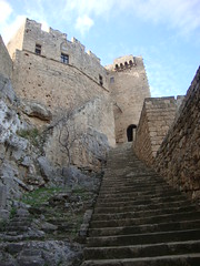 steps to Lindos medieval castle (marsider07) Tags: castle medieval greece rhodes lindos κάστρο ρόδοσ λίνδοσ μεσαιωνικό