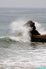 ErosionInProgress (mcshots) Tags: ocean california travel sea usa beach nature water point coast rocks surf waves stock socal summertime breakers mcshots swells combers peelers losangelescounty