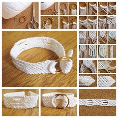 White Cotton Macrame Bracelet F (Wonderful DIY) Tags: fashion diy crafts cotton bracelet macrame