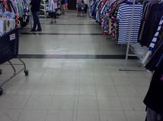 More floor stripes, in the back middle of the store (l_dawg2000) Tags: old vintage mississippi store junk corinth supermarket 80s ms grocery kroger repurposed junkstore dirtcheap retailconversion krogergreenhouse
