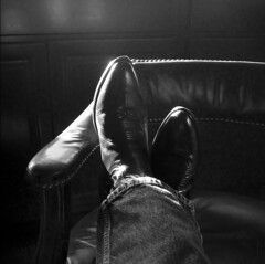 Feet up (hutchphotography2020) Tags: leather chair nikon boots jeans levis cowboyboots