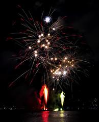 Cannes - Firework 2014 (Spain) (liquidphotos@ymail.com) Tags: mer beach landscape cannes olympus firework paysage omd em5 liquidphotos