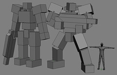 Mechanized Infantry Concept (OrangeKNight) Tags: 3d model modeling wip concept mecha mech overrun