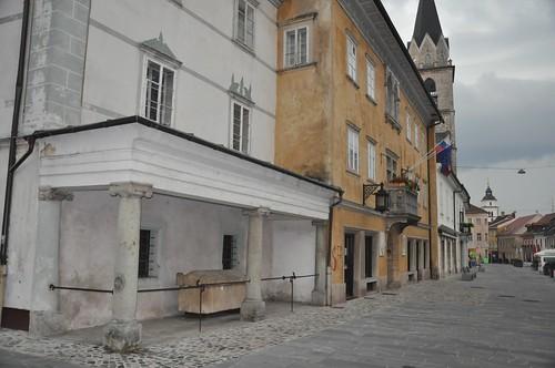 Main street in Kranj