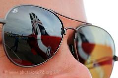 0812 Tails reflected (photozone72) Tags: aviation reds redarrows raf riat