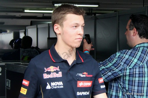 Daniil Kvyat after the Drivers' Parade at the 2014 German Grand Prix