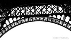 La tour Eiffel (stavos) Tags: blackandwhite bw white black paris france tower silhouette canon blackwhite eiffeltower eiffel 550d stavosnl