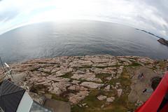 Baltic Sea - North Sea (schoeband) Tags: lighthouse norway norge balticsea fisheye northsea lindesnes lindesnesfyr vestagder fullframefisheye