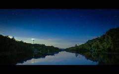 Week 32/52 - Before Stars Sleeping (the girl with the blue scarf) Tags: longexposure trees sky lake reflection nature night stars sleep magic silence dreams