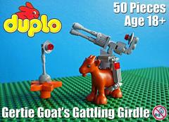 Gertie Goat's Gattling Girdle (David Roberts 01341) Tags: lego duplo