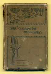 """""""Orthographisches Wrterverzeichnis von Dr. Konrad Duden"""" (altpapiersammler) Tags: old flower vintage buch book alt artnouveau blume jugendstil seerose bucheinband"""