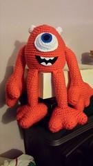 Elizabeth Swank (The Crochet Crowd) Tags: mike toy mikey cal amigurumi redheart monstersinc crochetalong crochetpattern staceytrock freecrochetpattern thecrochetcrowd michaelsellick mysterycrochetchallenge whosinyourcloset monstersinccrochetpattern monstersuniversitycrochetpattern