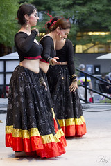 Ekakshara Dance Creations Troupe Dancer (S. Staj) Tags: music woman toronto canada colour love girl beautiful festival lady night dance concert dancers audience action stage indian performance belly musical bellydance northyork 2014 attire staj