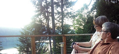 Visiting (Homini:)) Tags: family blue trees lake beautiful cabin view visiting quilcene