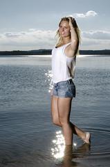 _D7K6337 (Kjell.holgersson) Tags: summer portrait woman water girl pose model nikon photoshoot photos sweden blueeyes photographers smland blond underware sommar blondin stensjn nssj hglandet d7000 nmmen kjellholgersson
