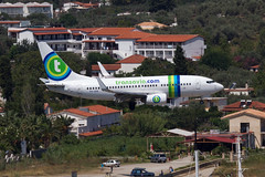 Transavia Boeing 737 on approach to Skiathos, Greece. (Martyn Cartledge / www.aspphotography.net) Tags: uk plane airplane greek fly flying airport europe aircraft aviation air transport flight jet aeroplane greece airline boeing runway skiathos airliner transavia 737 martyn aerodrome b737 jsi cartledge phxrb civilairliner civilairline aspphotography skiathios wwwaspphotographynet