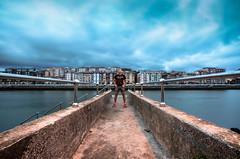 PORTUGALETE- GETXO (Rober1000x) Tags: city longexposure summer spain europa europe bilbao espana bluehour portugalete bilbo basquecountry paisvasco 2014 getxo riadebilbao