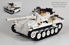 M18 Hellcat 76mm Tank Destroyer Version 2 (Tomcat Bobcat) Tags: world winter 2 two war tank lego m18 battle camo destroyer german american ww2 mm tanks wot bulge 76 hellcat 76mm brickarms