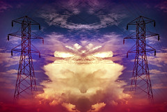 (Tau Zero) Tags: electric clouds pylon digitalmirror
