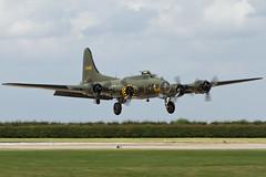 Boeing B-17G Flying Fortress - 5 (NickJ 1972) Tags: aviation airshow b17 boeing flyingfortress dfa raf waddington 2014 sallyb memphisbelle gbedf 124485