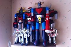 A part of my collection of robots (sebastien.robo) Tags: collection robots transformers jumbo macross goldorak grendizer jetfire mazinger robotech machinder raideen