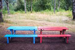 Negotiations (Little Big Joe) Tags: blue red norway t norge telemark dalen fotomografi x100s