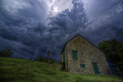 Barn Storming (It's my whole damn raison d'etre) Tags: county blue roof storm green alex weather stone clouds barn dark virginia nikon ominous surreal stormy historic va springs hdr loudoun saltbox purcellville silcott erkiletian d800e