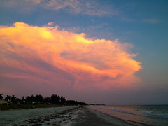 Longboat Key (rphilman1) Tags: sunset sea summer moon beach water mexico sand key waves gulf florida longboat 2014