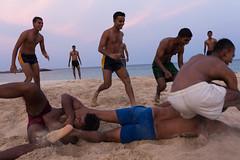 Gaminee / Kabbadi, Trinco (Boris Hamilton) Tags: men beach sport dusk srilanka trincomalee trinco kabbadi gaminee