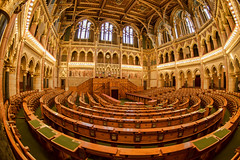Hall of the decisions (Tomislav C.) Tags: old windows urban history architecture lights hall hungary interior budapest murals parliament stainedglass ceiling historic tables booths historical oldfashioned decisions policies pentaxk3